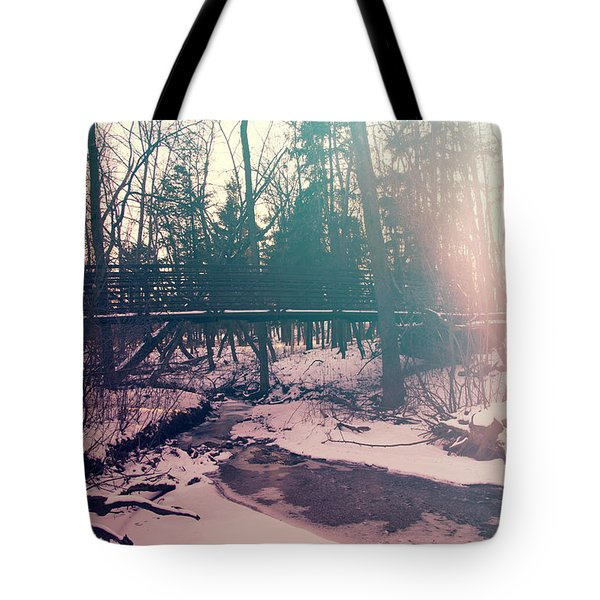 Tote Bag featuring the photograph High Cliff Bridge by Joel Witmeyer