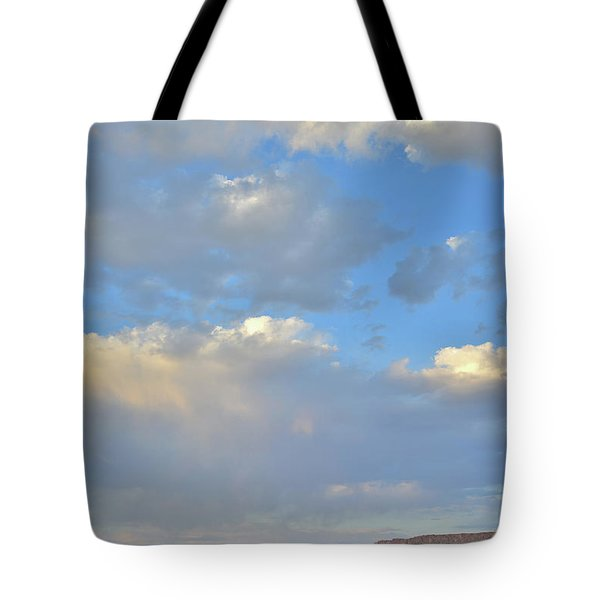 High Clouds Over Caineville Wash Tote Bag