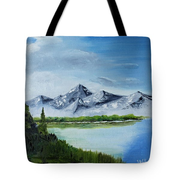 High Country Fog Tote Bag by Jack G  Brauer