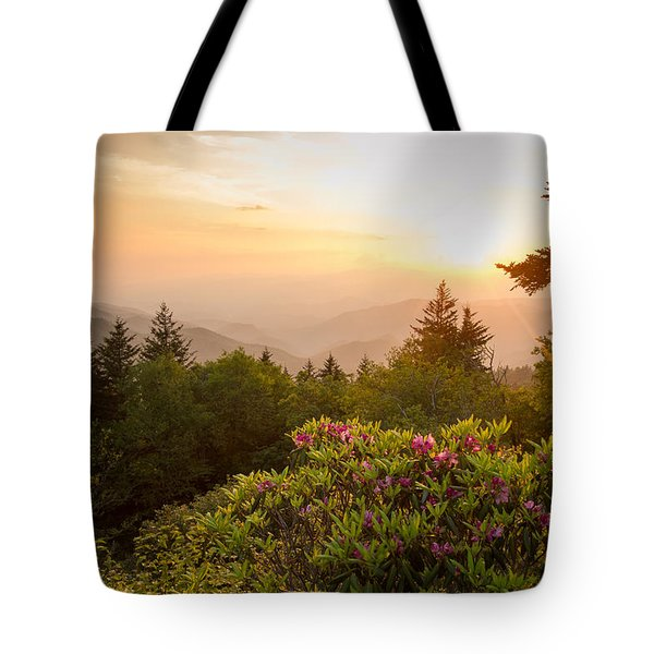 High Country Sunset Tote Bag