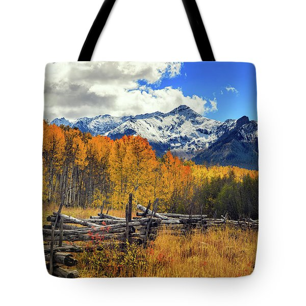 High County Ablaze Tote Bag