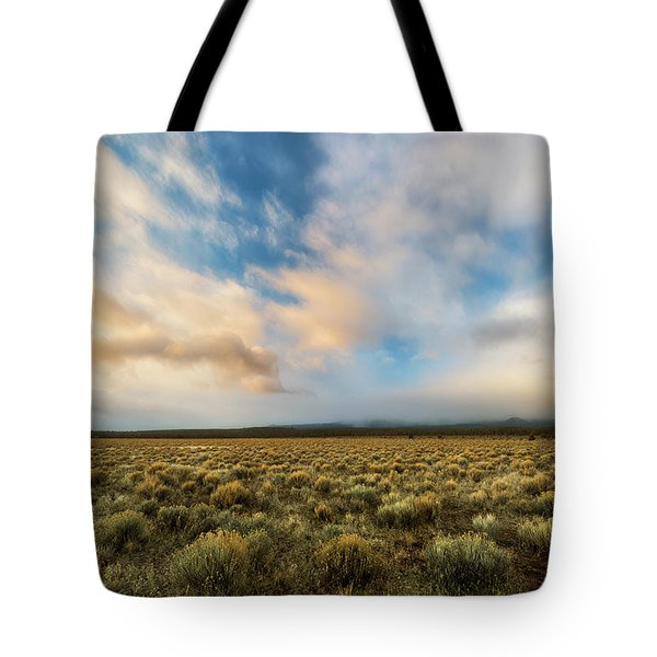Tote Bag featuring the photograph High Desert Morning by Ryan Manuel