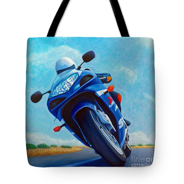 High Desert Pass - Suzuki Gsxr1000 Tote Bag by Brian  Commerford