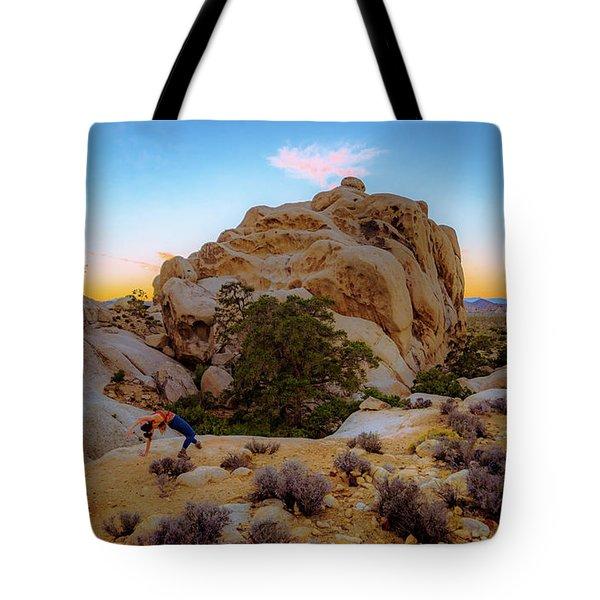 High Desert Pose Tote Bag