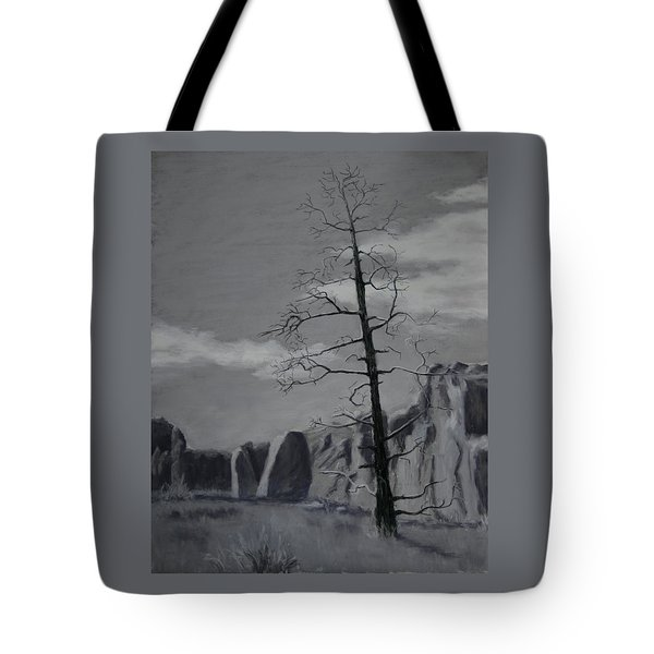Tote Bag featuring the painting High Desert Skeleton by Nancy Jolley