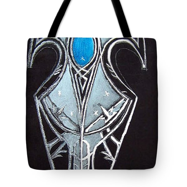 Tote Bag featuring the painting High Elven Warrior Shield  by Richard Le Page