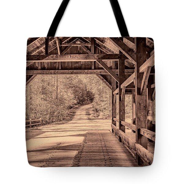 High Falls Covered Bridge Tote Bag