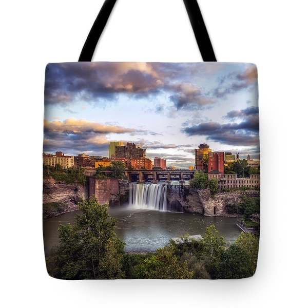 Tote Bag featuring the photograph High Falls Crop by Mark Papke