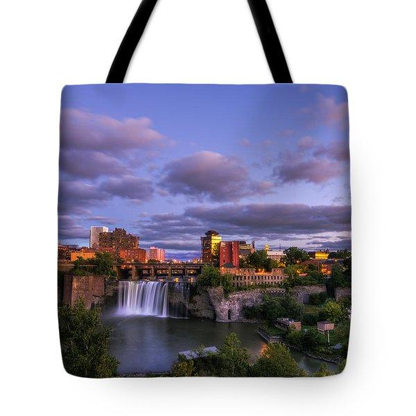 High Falls Dusk Tote Bag