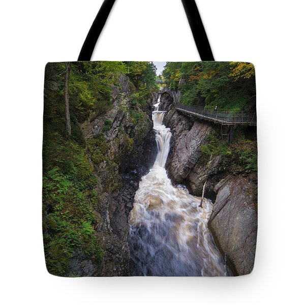 Tote Bag featuring the photograph High Falls Gorge Adirondacks by Mark Papke