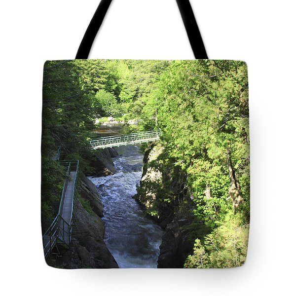 High Falls Gorge Tote Bag by Deborah Benoit