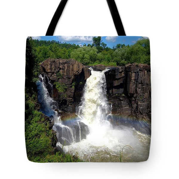 High Falls On Pigeon River Tote Bag