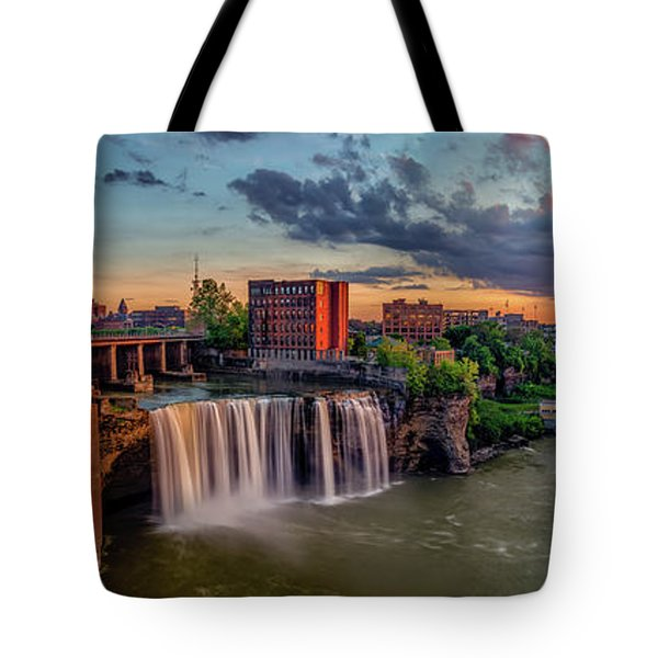 High Falls Panorama Tote Bag by Mark Papke