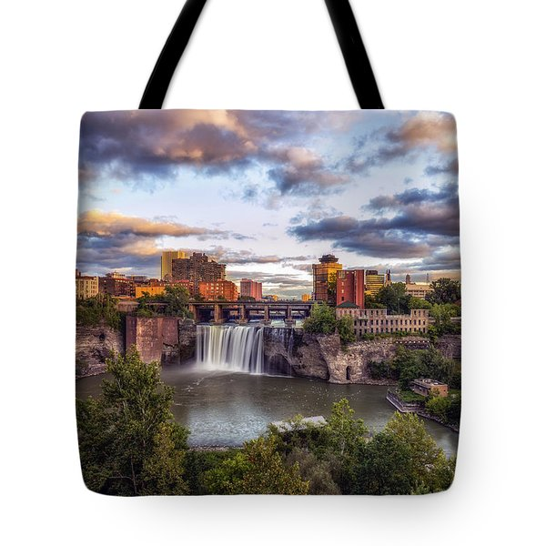 High Falls Rochester Tote Bag by Mark Papke
