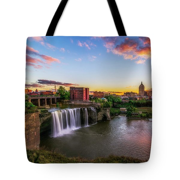 High Falls Rochester Ny Tote Bag by Mark Papke