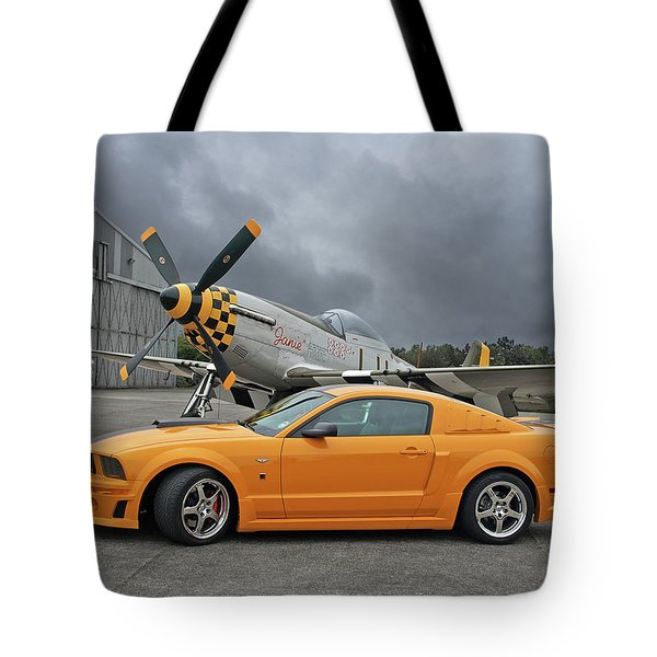 High Flyers - Mustang And P51 Tote Bag
