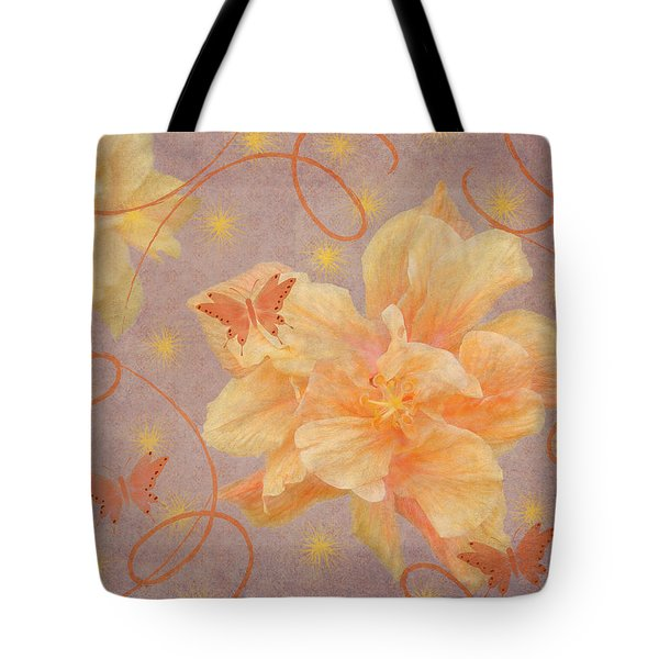 High Flying Hibiscus Tote Bag