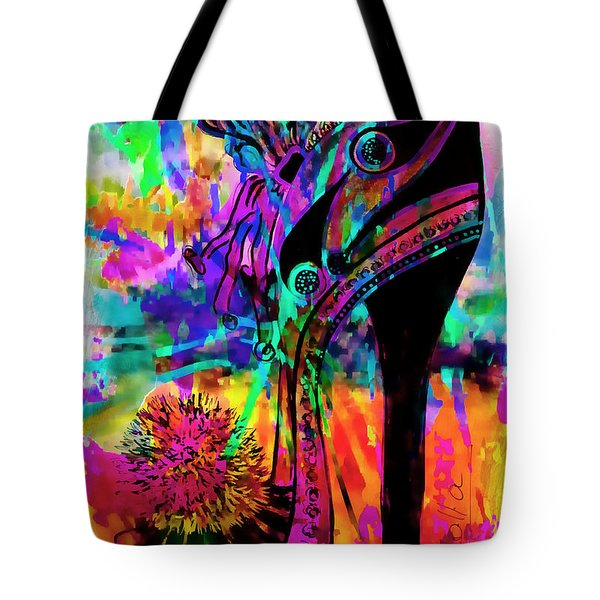 High Heel Heaven Abstract Tote Bag