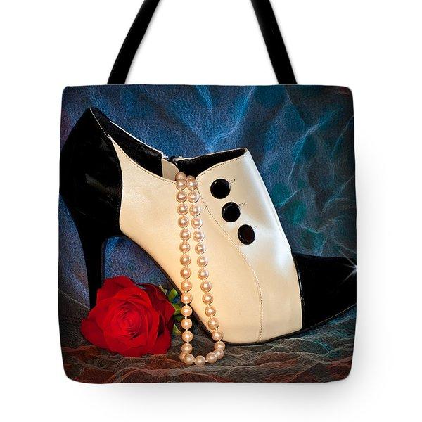 High Heel Spat Bootie Shoe Tote Bag