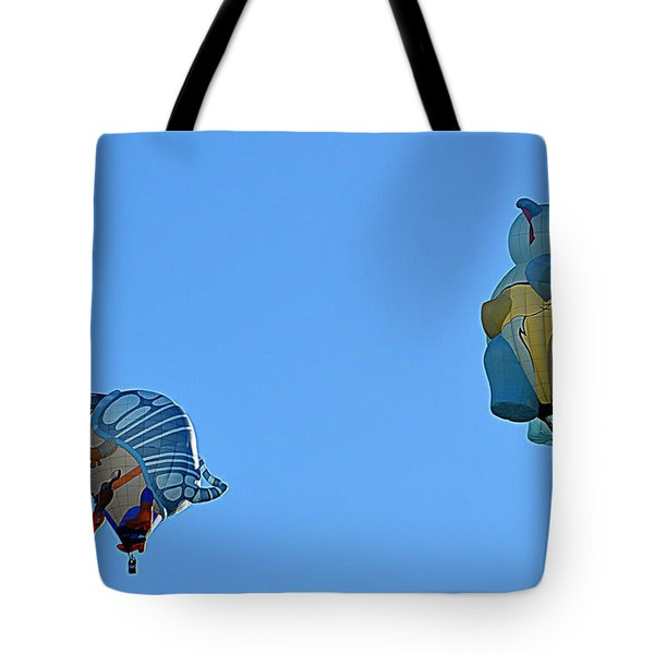 Tote Bag featuring the photograph High Jinx by AJ Schibig