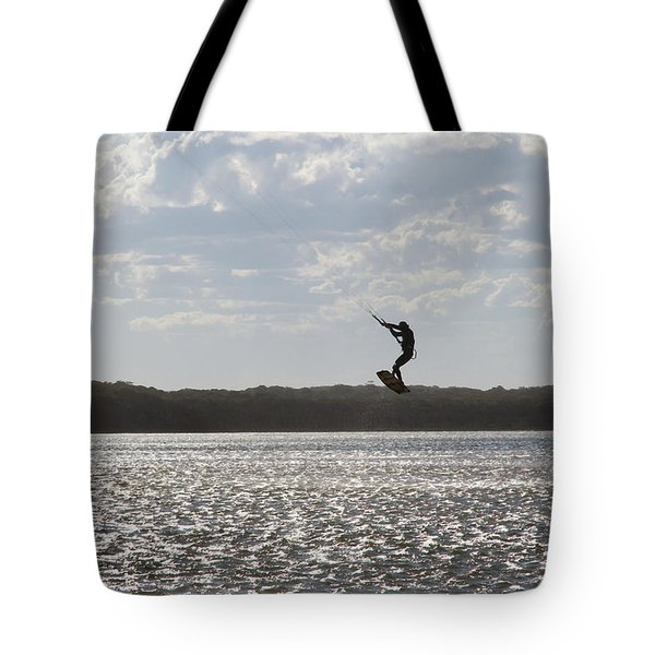 Tote Bag featuring the photograph High Jump  by Miroslava Jurcik