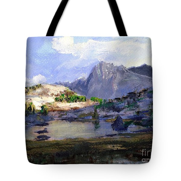 High Lake Tote Bag by Randy Sprout