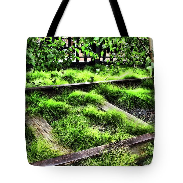 High Line Nyc Railroad Tracks Tote Bag