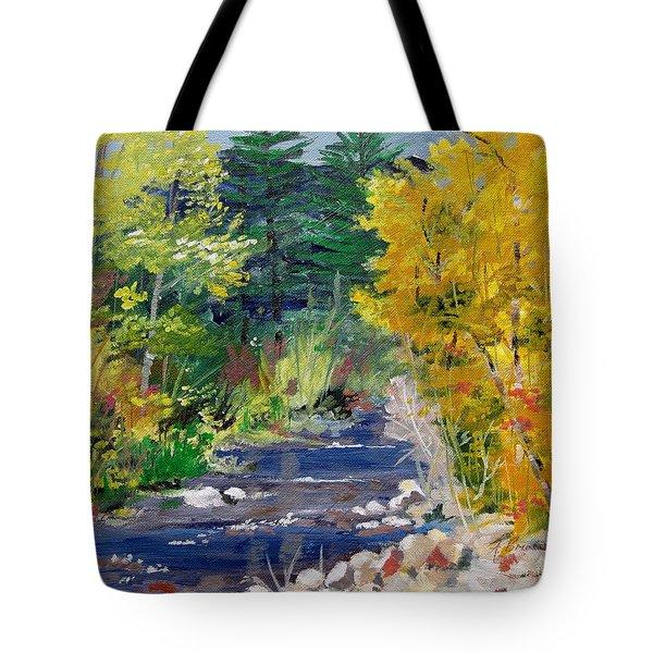 High Mountain Creek  Tote Bag