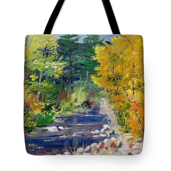 High Mountain Creek  Tote Bag