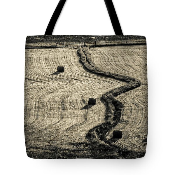 High Mountain Hay Field #3 Tote Bag