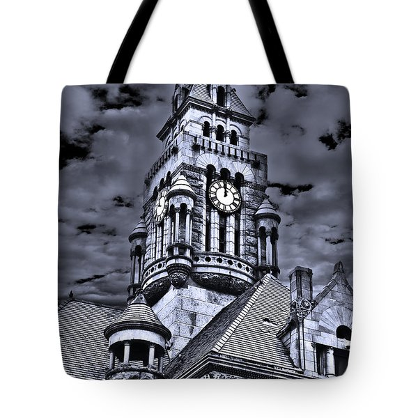 Tote Bag featuring the photograph High Noon Black And White by Tamyra Ayles