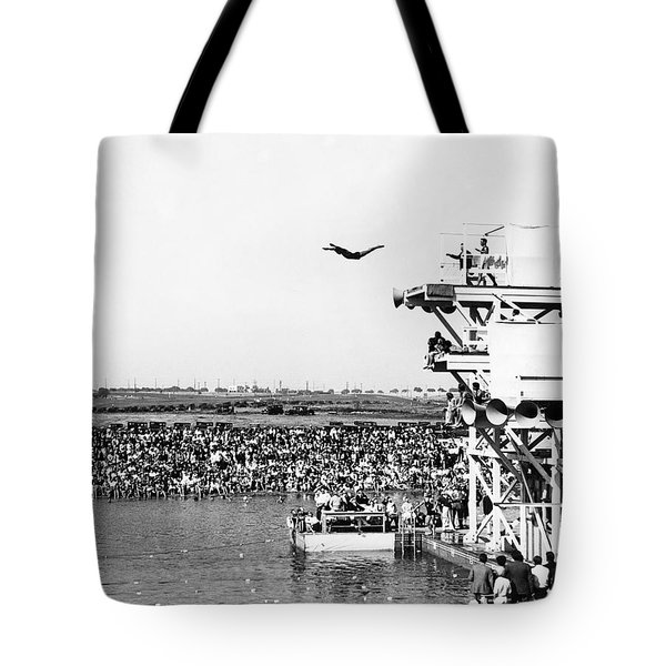 High Platform Swan Dive Tote Bag