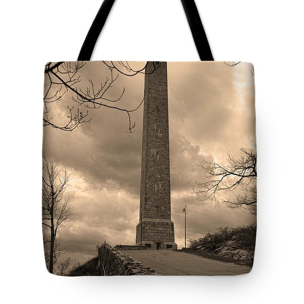 High Point Obelisk In Sepia  Tote Bag