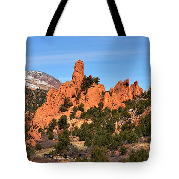 Tote Bag featuring the photograph High Point View by Adam Jewell