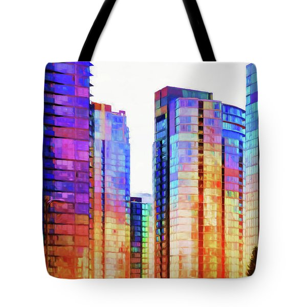 High Rise Abstract Tote Bag