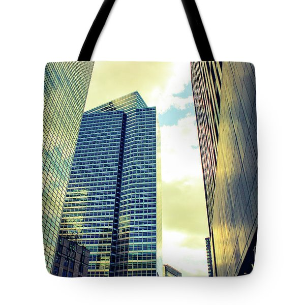 High Rise Reflections Nyc Tote Bag