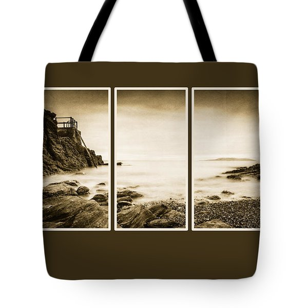 High Rock Triptych Tote Bag by Martina Fagan