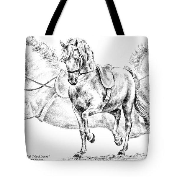 High School Dance - Lipizzan Horse Print Tote Bag