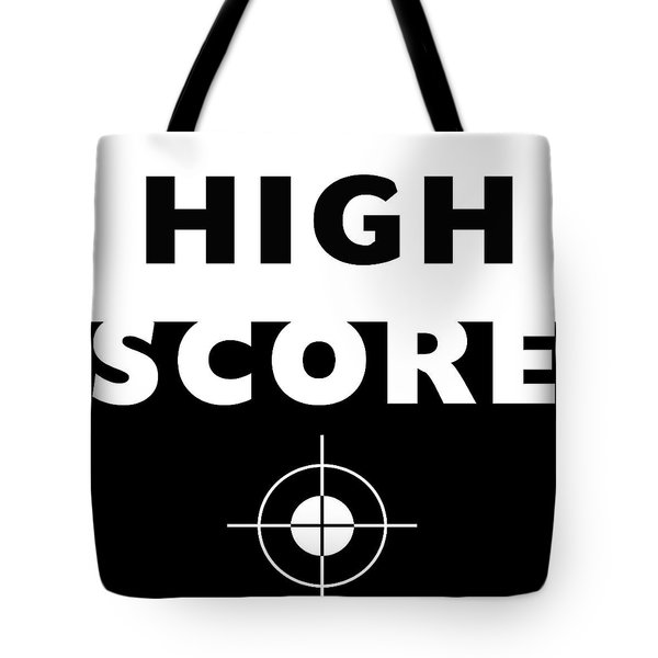 Tote Bag featuring the mixed media High Score- Art By Linda Woods by Linda Woods