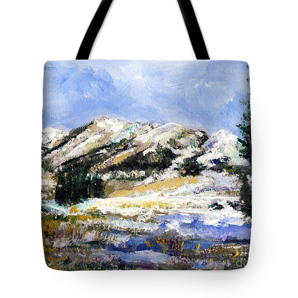 High Sierra Snow Melt Tote Bag by Randy Sprout