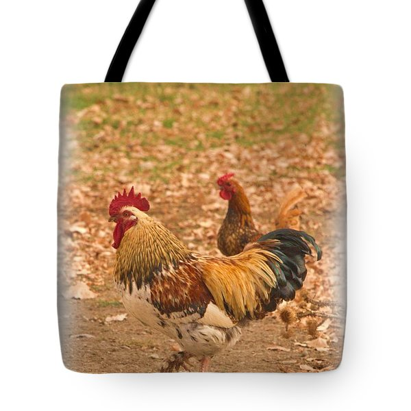 High Stepping Rooster Tote Bag