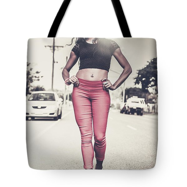 High Street Fashion Model In Luxury Apparel  Tote Bag
