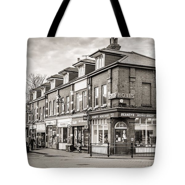 Tote Bag featuring the photograph High Street. by Gary Gillette