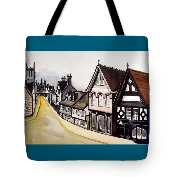 High Street Of Stamford In England Tote Bag by Dora Hathazi Mendes