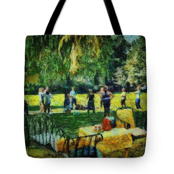 High Tea Tai Chi Tote Bag