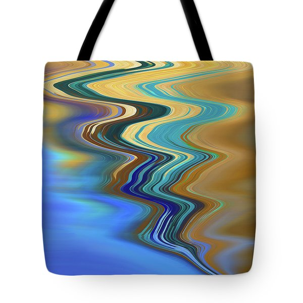 Tote Bag featuring the digital art High Tide by Gina Harrison