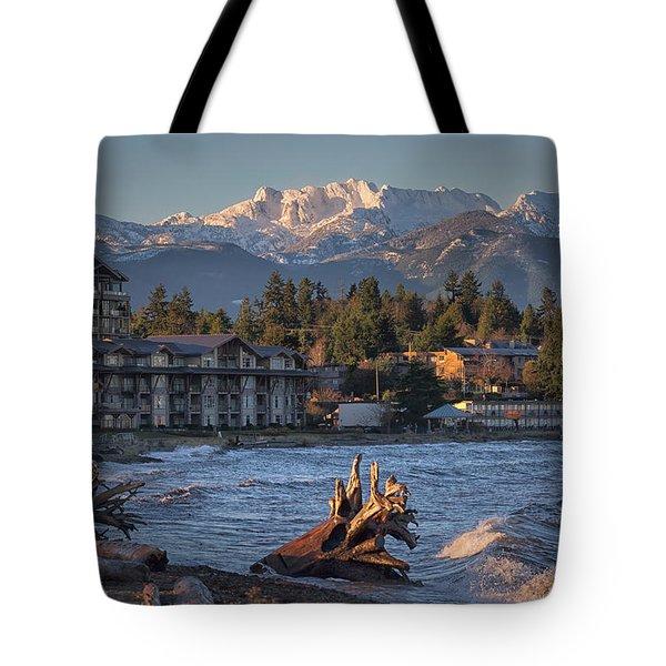 High Tide In The Bay Tote Bag