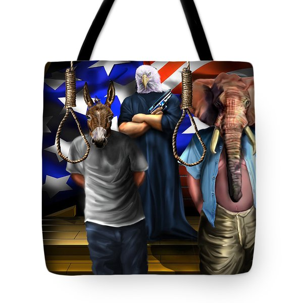 High Treason - State Of The Union-a House Divided1 Tote Bag by Reggie Duffie