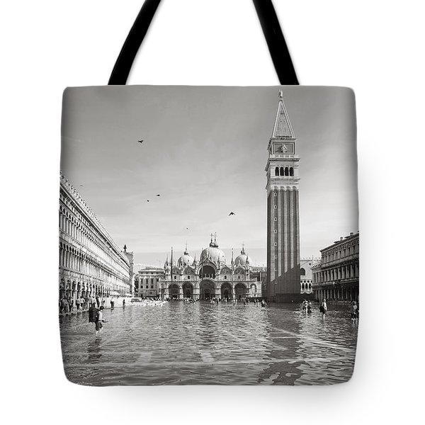 High Water In S.marco Square Tote Bag