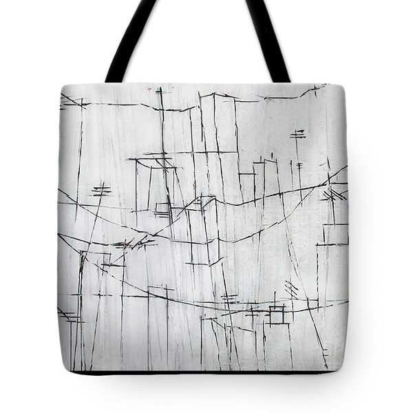 High Wires Tote Bag by Pamela Canzano